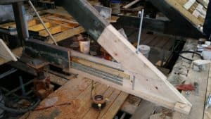 Epoxy resin repair of a timber truss end affected by dry rot